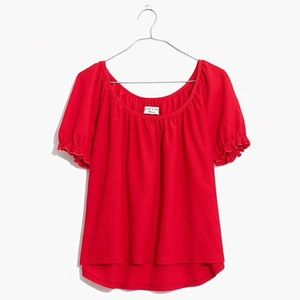 NWT Texture & Thread Blouse I'm Scarlet Red
